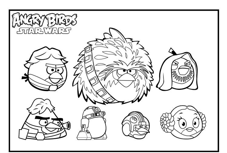 Angry Birds Star Wars Coloring Pages Online