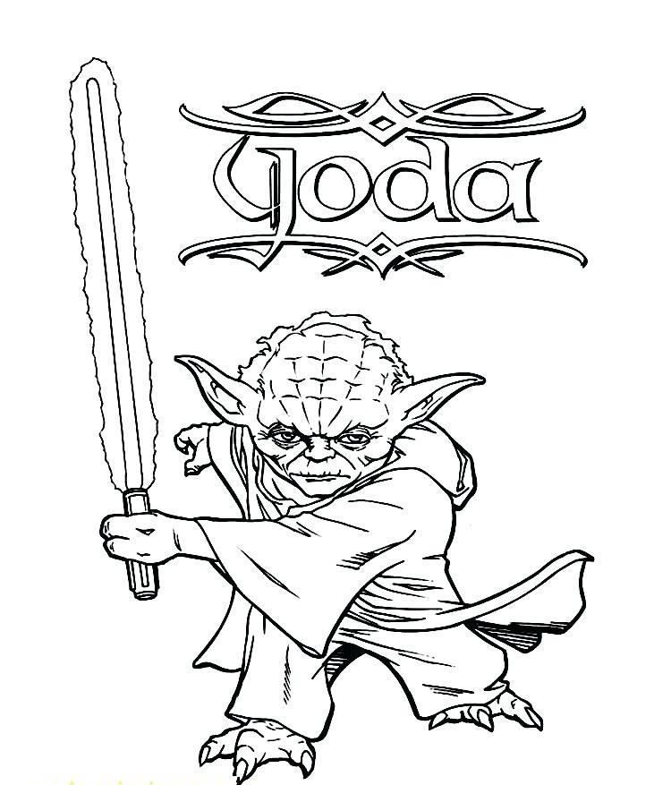 Angry Birds Star Wars Coloring Pages Yoda