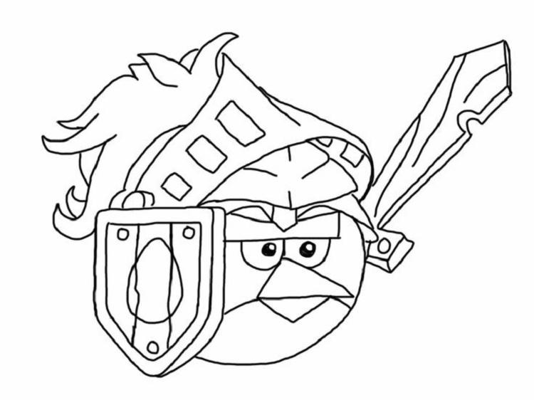 Angry Birds Superhero Coloring Pages
