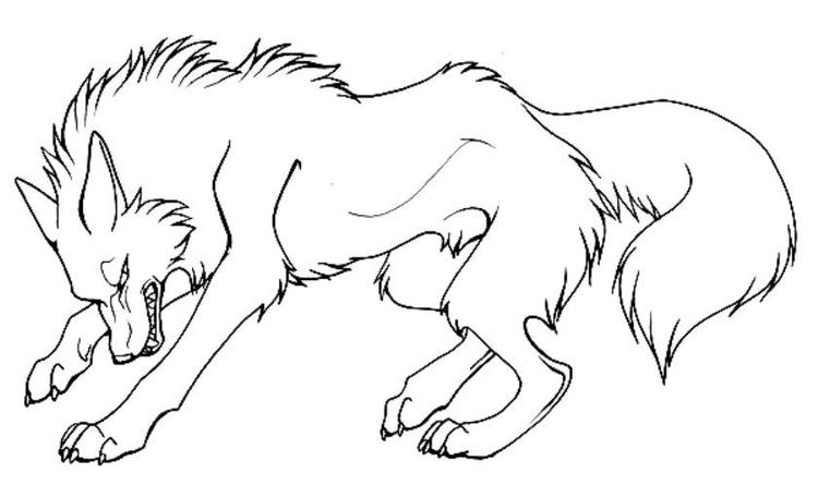 Angry Cartoon Wolf Coloring Pages To Print
