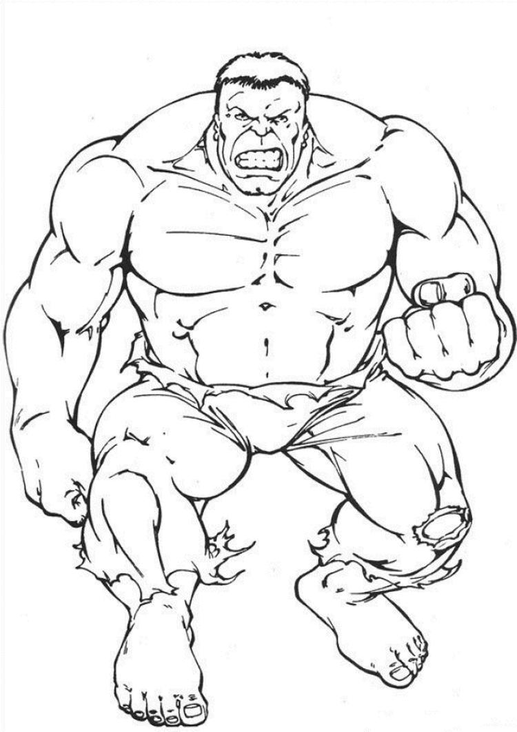 Angry Hulk Coloring Pages