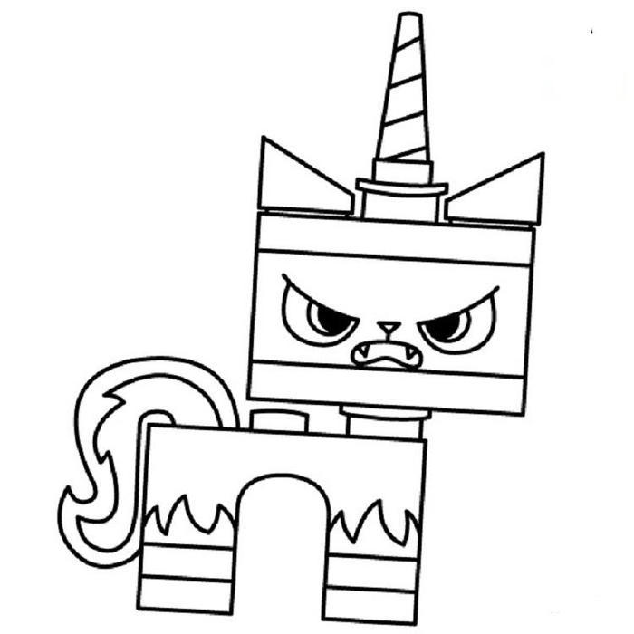 Angry Unikitty Coloring Pages