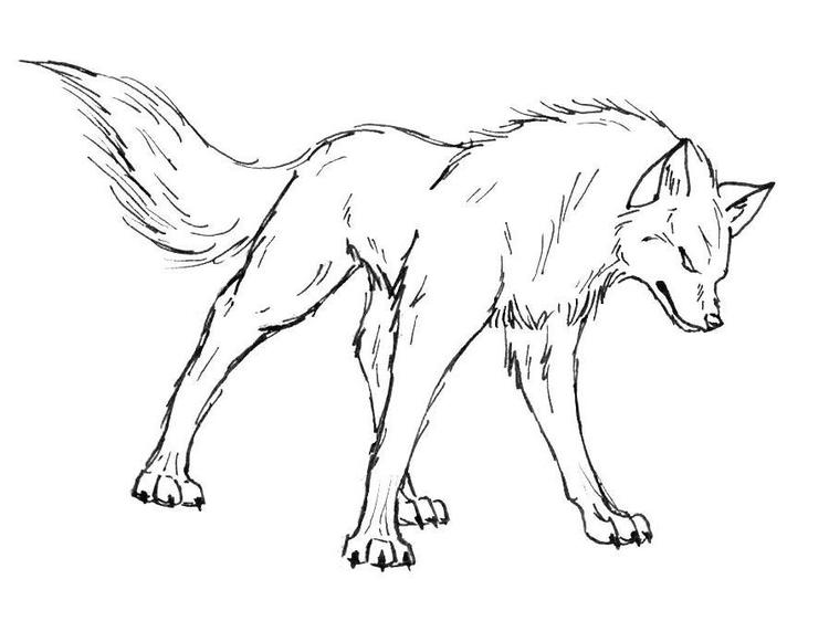 Angry Wolf Coloring Pages Print