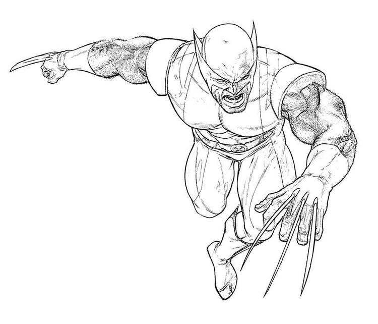 Angry Wolverine Coloring Pages