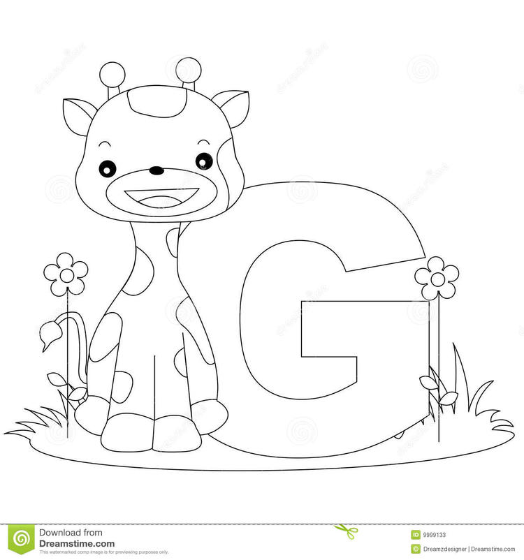 Animal Abc Coloring Pages For Child