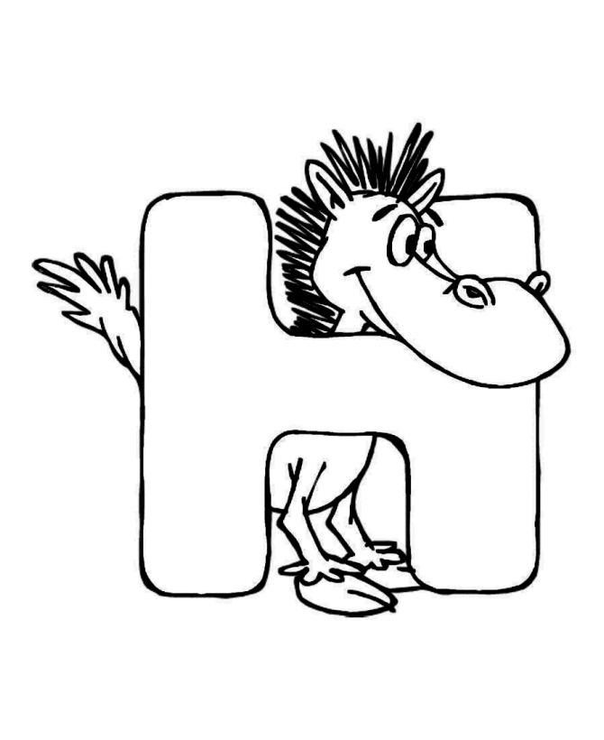 Animal Abc Coloring Pages For Preschool