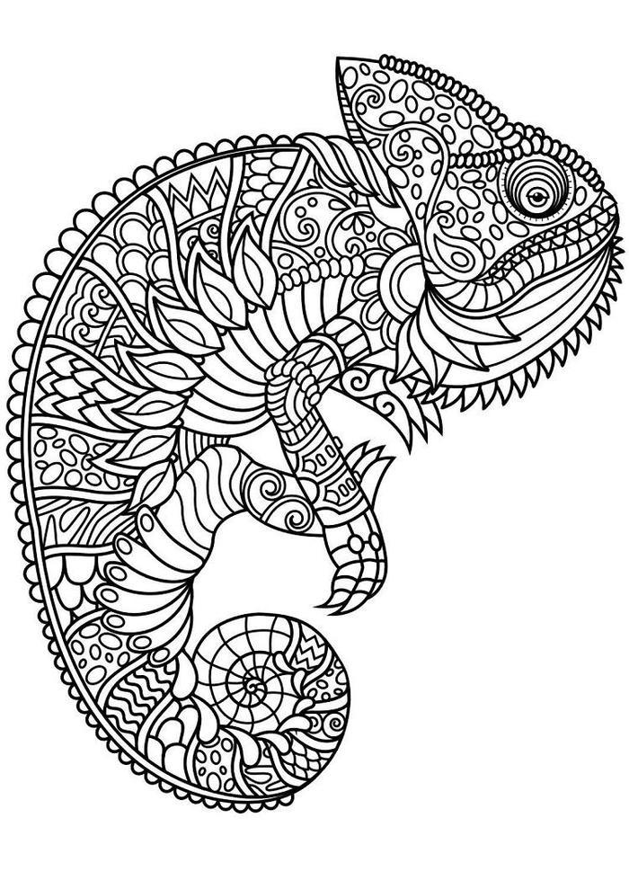 Animal Abstract Coloring Pages - Coloring Ideas