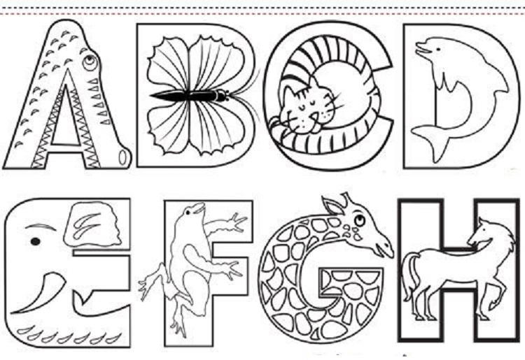 Animal Alphabet Coloring Pages Printable