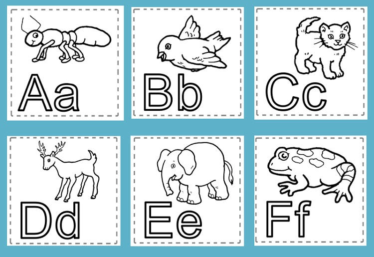 Animal Coloring Pages Alphabet
