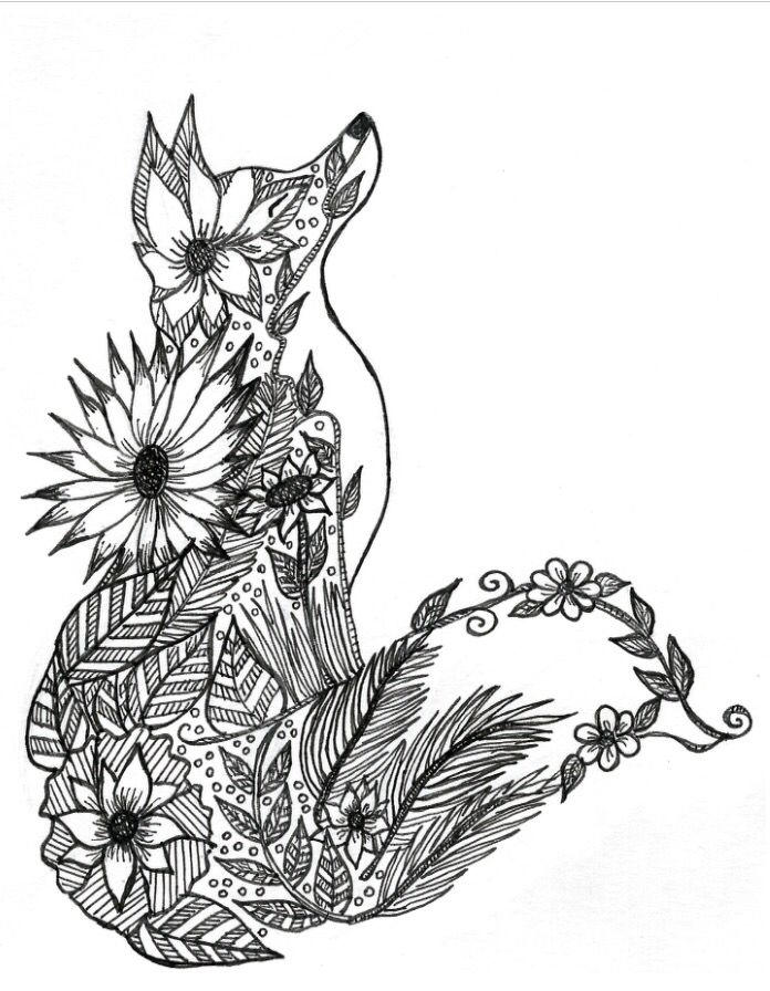 Animal Coloring Pages For Adults For Girls