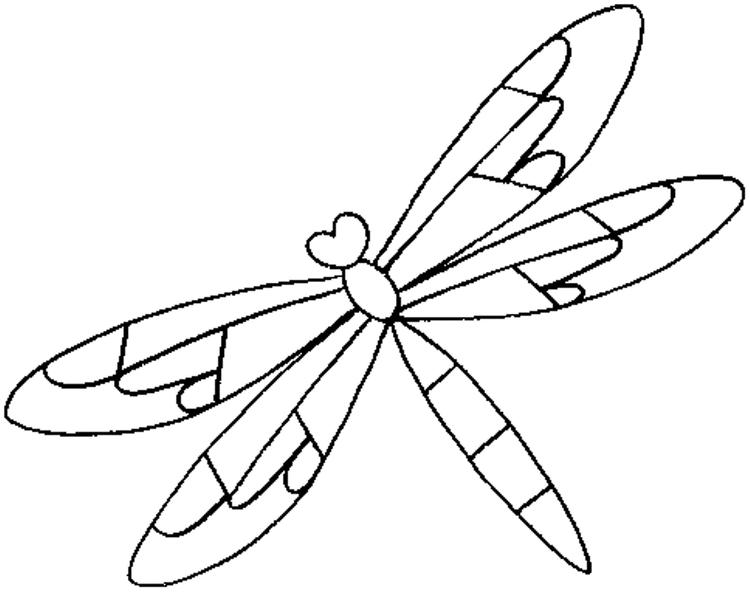 Animal Dragonfly Coloring Page Free For Kids