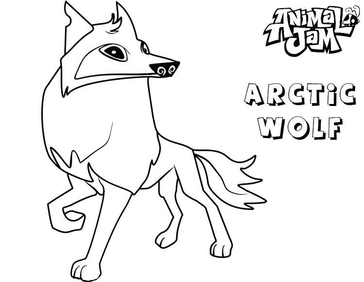Animal Jam Coloring Pages Arctic Wolf