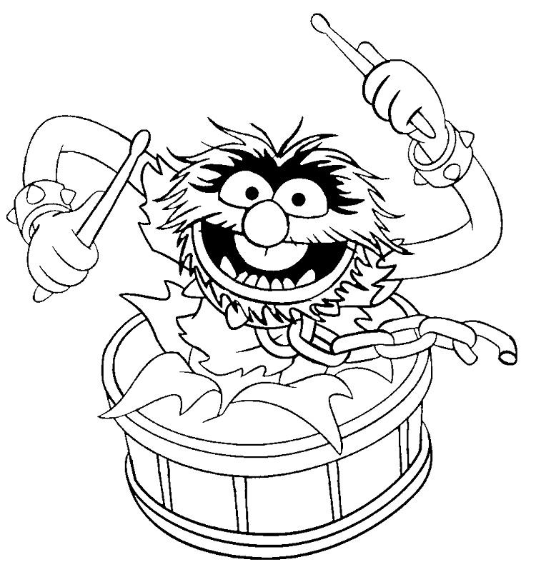 Animal Muppet Coloring Pages
