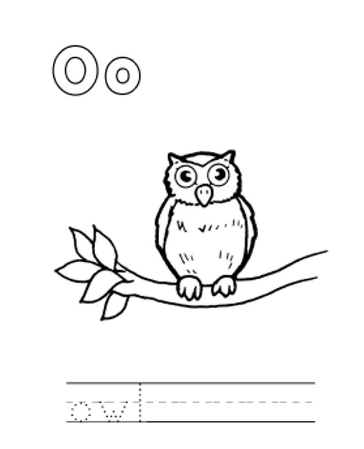 Animal Owl Alphabet Coloring Pages