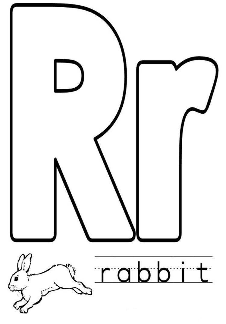 Animal Rabbit Free Alphabet Coloring Pages