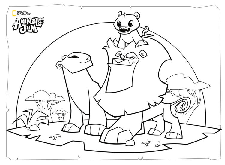 Animal Jam Coloring And Activity Page