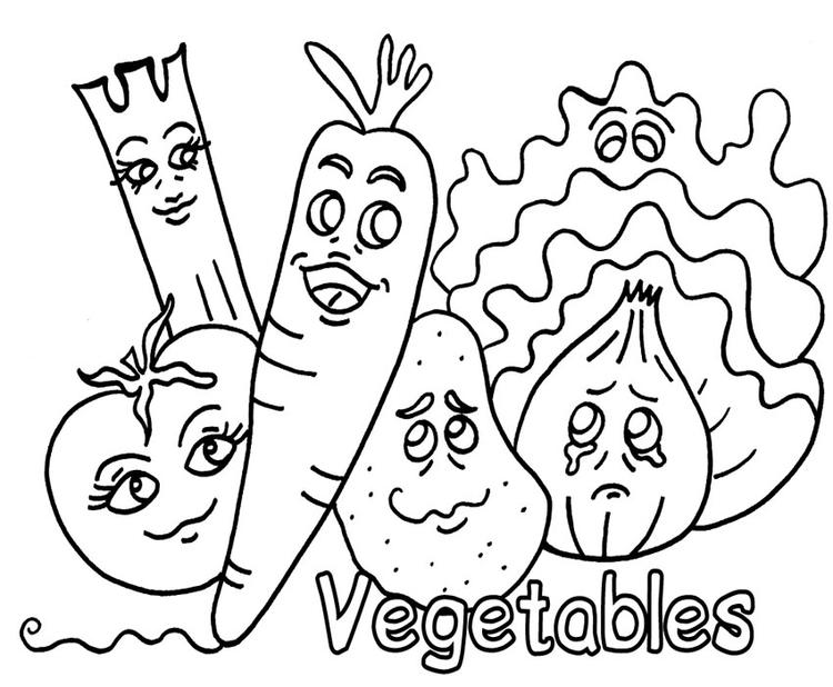 Animated Vegetable Coloring Pages For Kids
