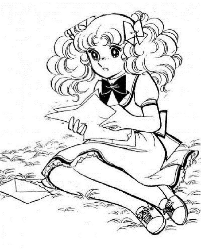 Anime Candy Coloring Pages