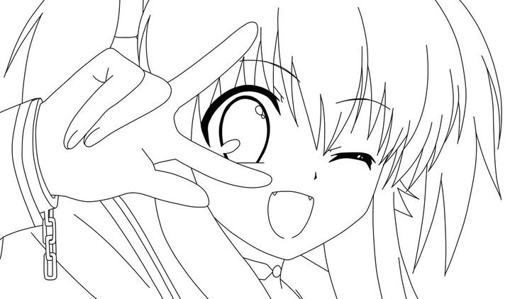 Anime Coloring Pages Cat Girl Face