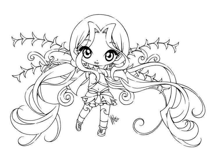 Anime Coloring Pages Chibi Girl