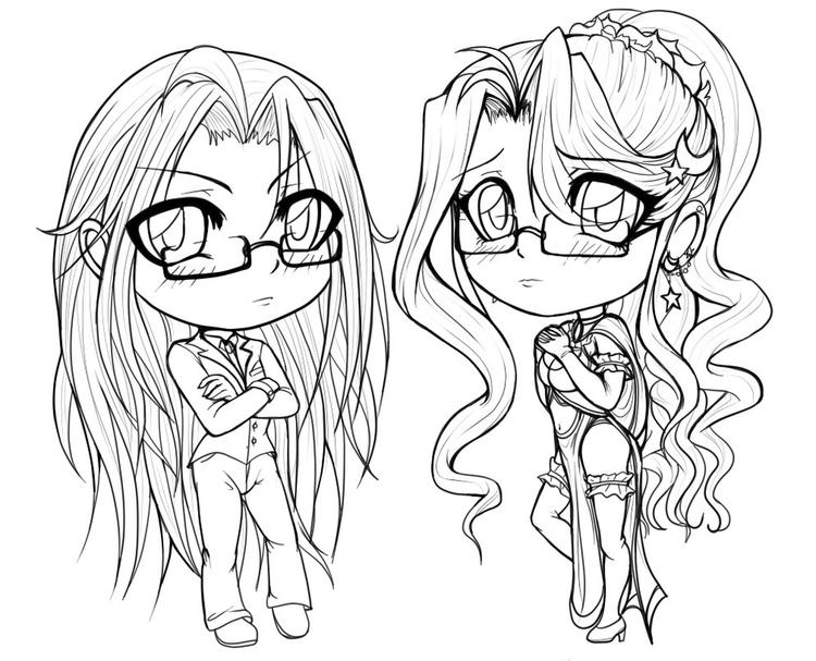Anime Coloring Pages Chibi Girls