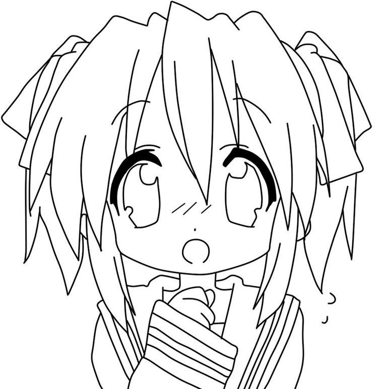 Anime Coloring Pages Chibi