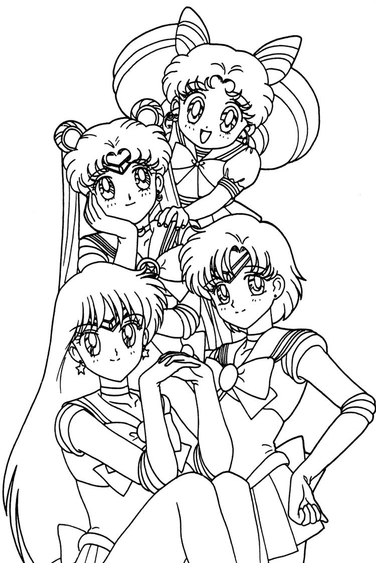 Anime Coloring Pages Sailor Moon