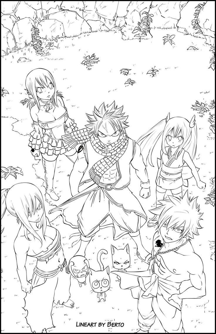 Anime Fairy Tail Coloring Pages