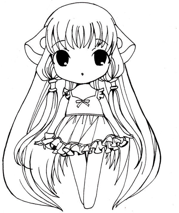 Anime Girl Coloring Pages Chibi