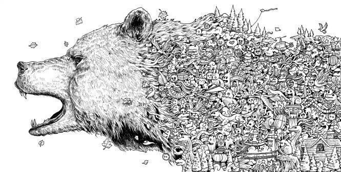 Animorphia Coloring Book To Print