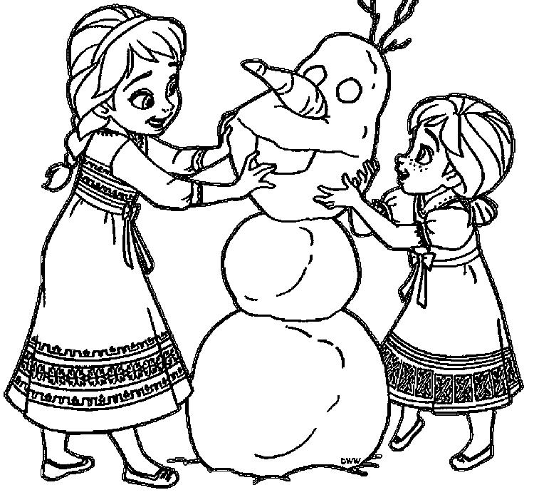 Anna Coloring Pages Young