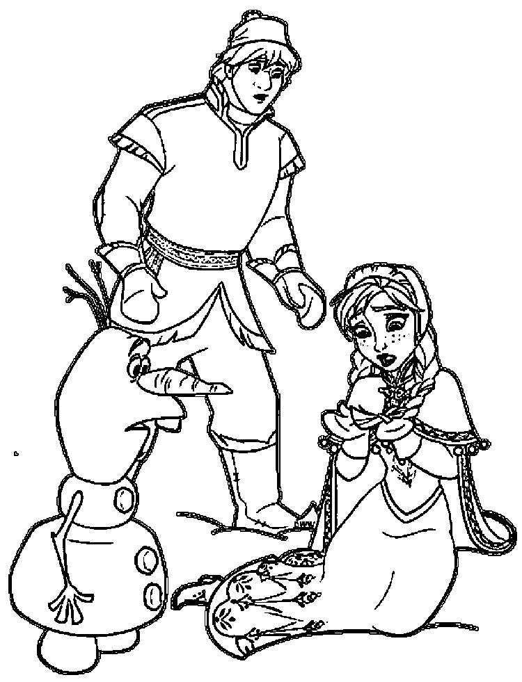 Anna Kristoff Olaf Coloring Pages