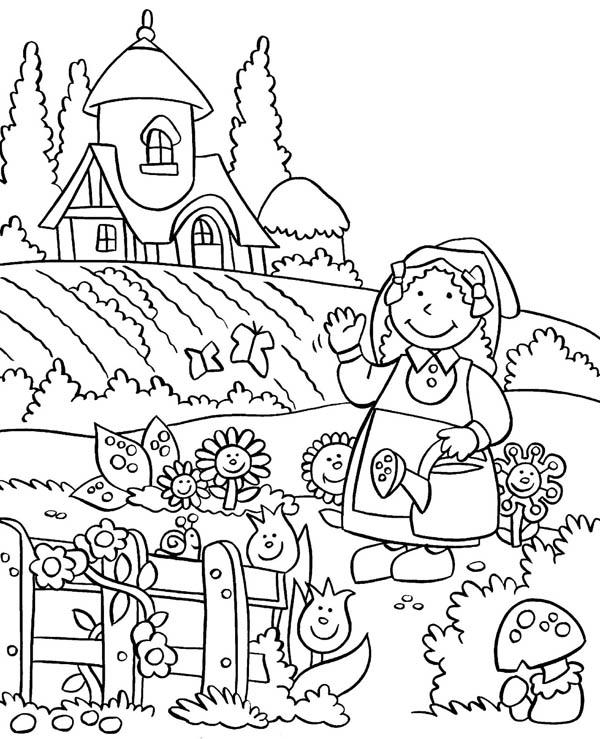 Anne Gardening Story Coloring Pages