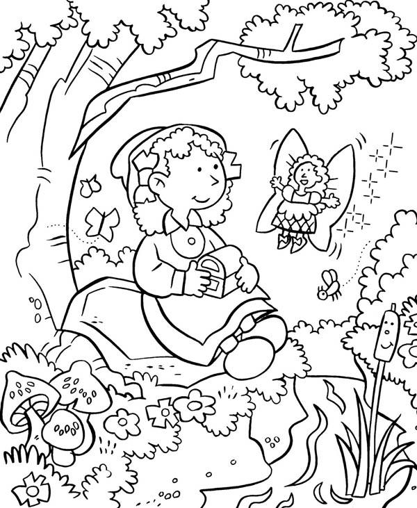 Anne Take A Rest Because She Tired After Gardening Coloring Pages