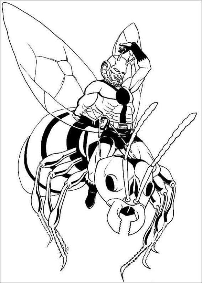 Ant Man And The Wasp Coloring Pages