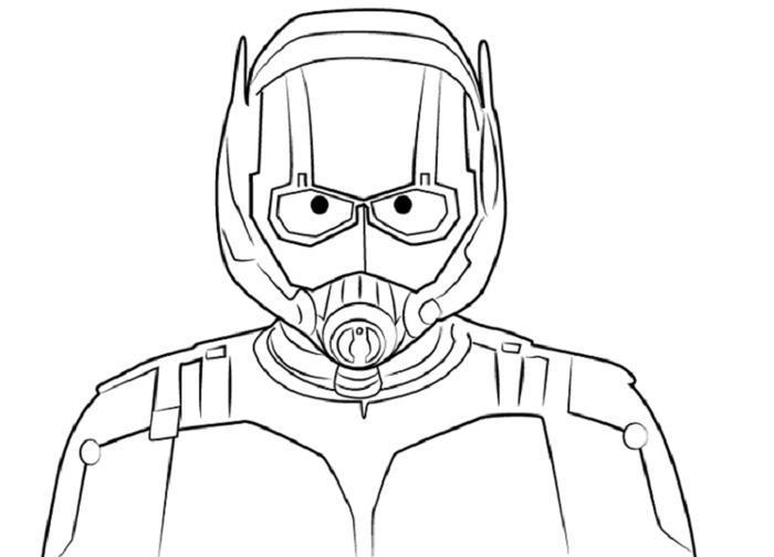Ant Man Coloring Pages Helmet