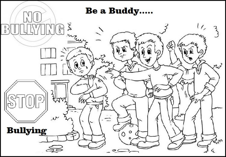 Anti Bullying Coloring Pictures For Children Stop Bullying