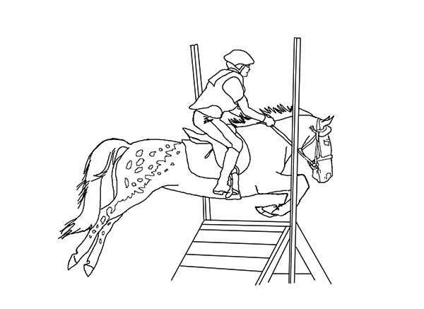 Appalooshorse Cross Jumping Coloring Pages
