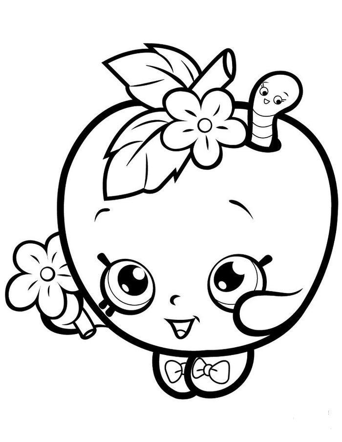 Apple Blossom Shopkins Coloring Pages