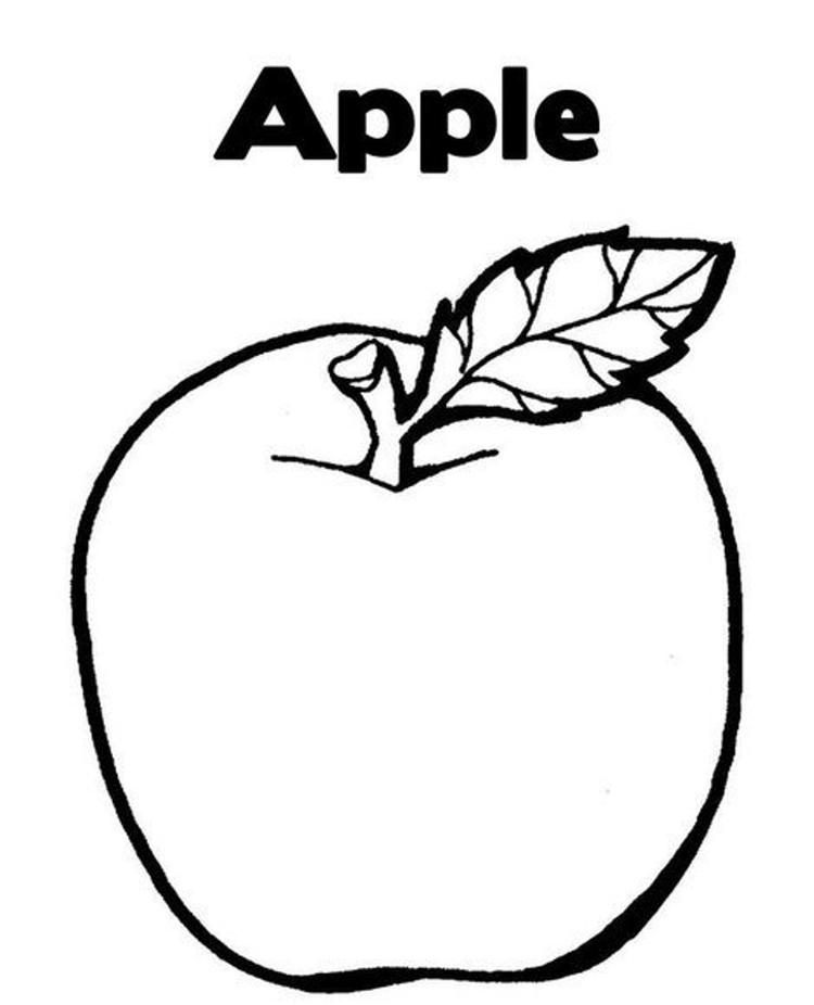 Apple Coloring Pages A Is For Apple