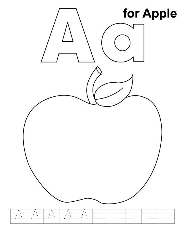 Apple Coloring Pages For Preschool