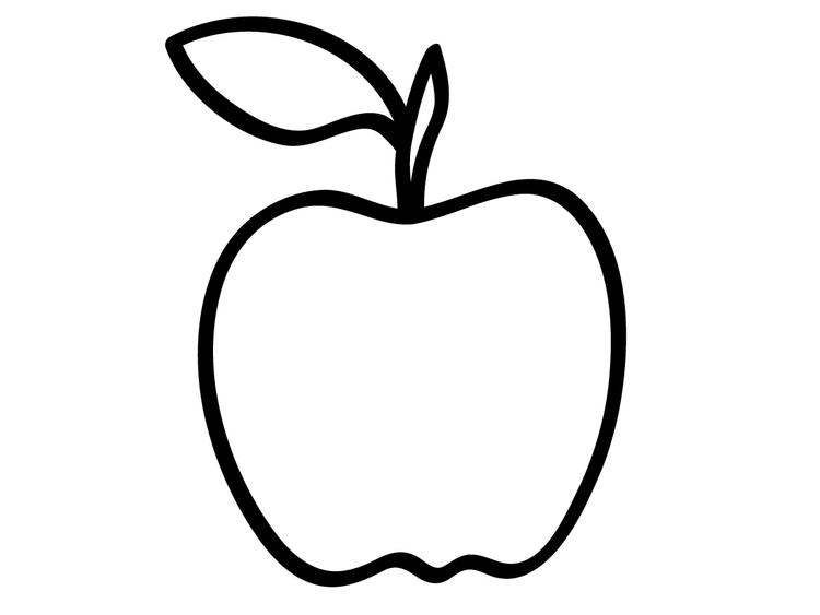 Apple Coloring Pages For Preschooler