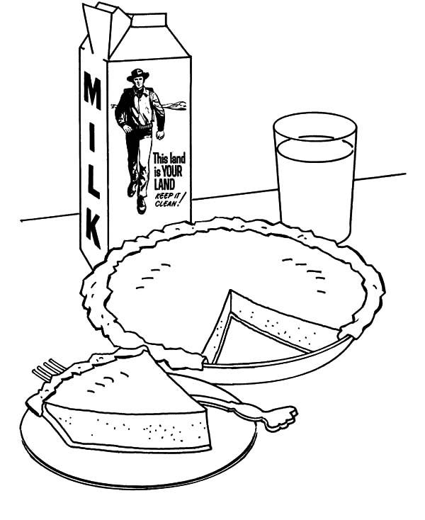 Apple Pie And Milk Coloring Pages