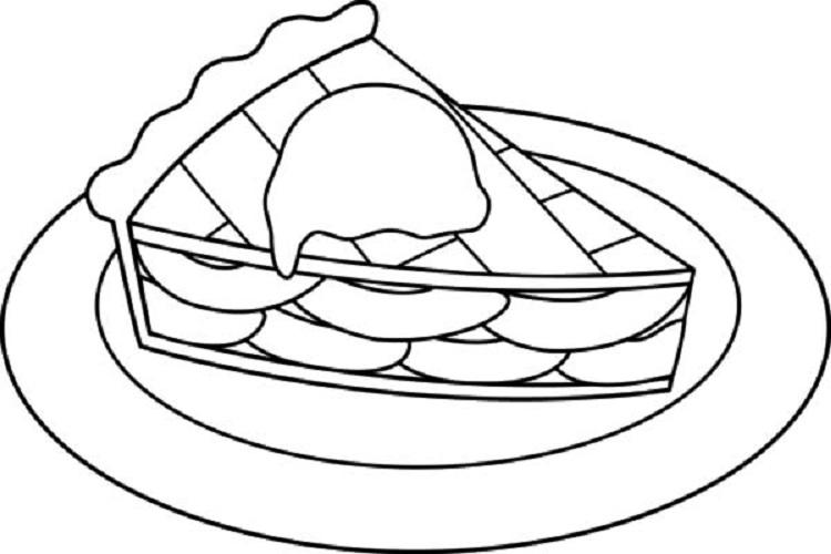 Apple Pie Coloring Page