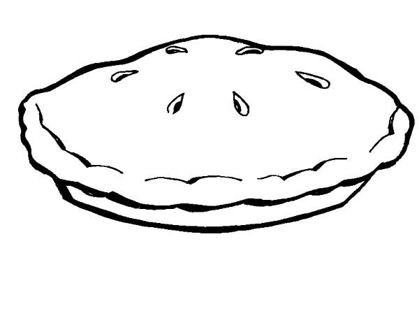 Apple Pie For Kids Coloring Pages