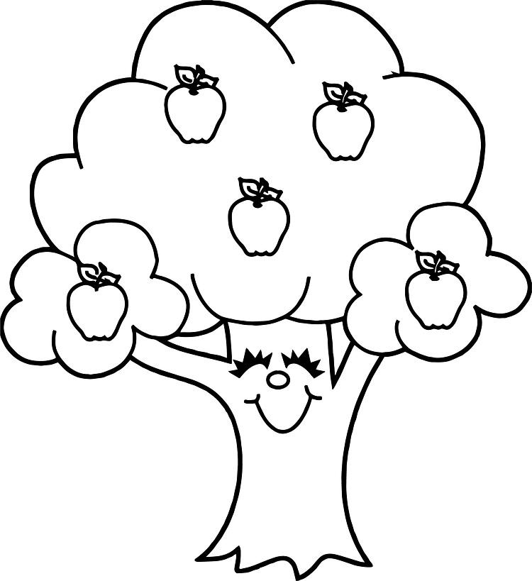 Apple Tree Coloring Page