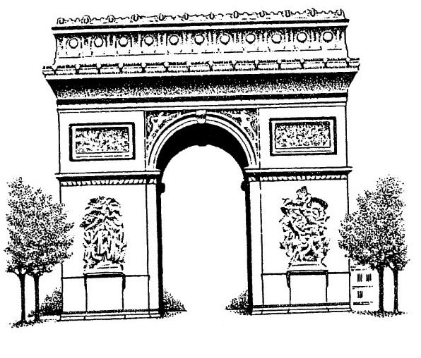 Arc De Triomphe Napoleon Bonaparte Drawing