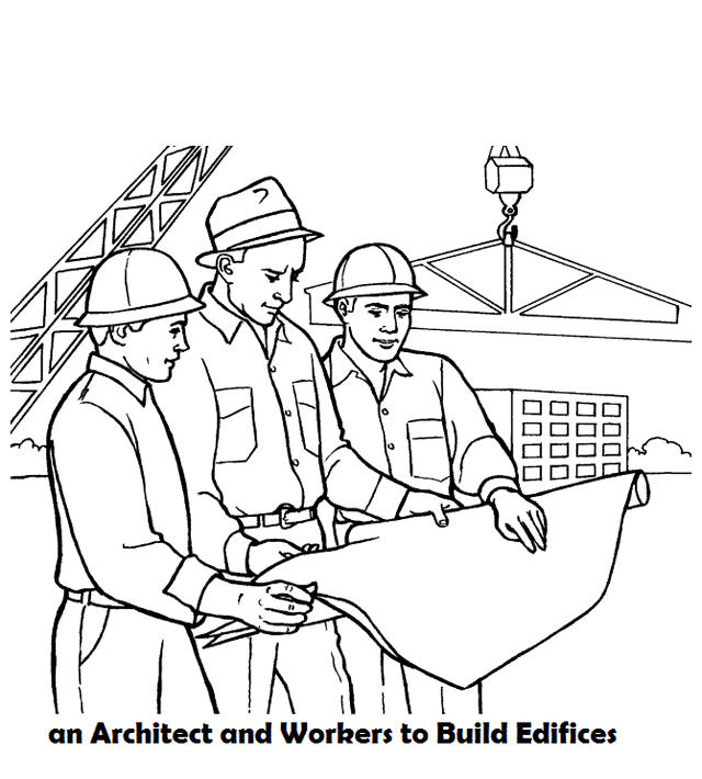 Architect Monitor The Building Coloring Page