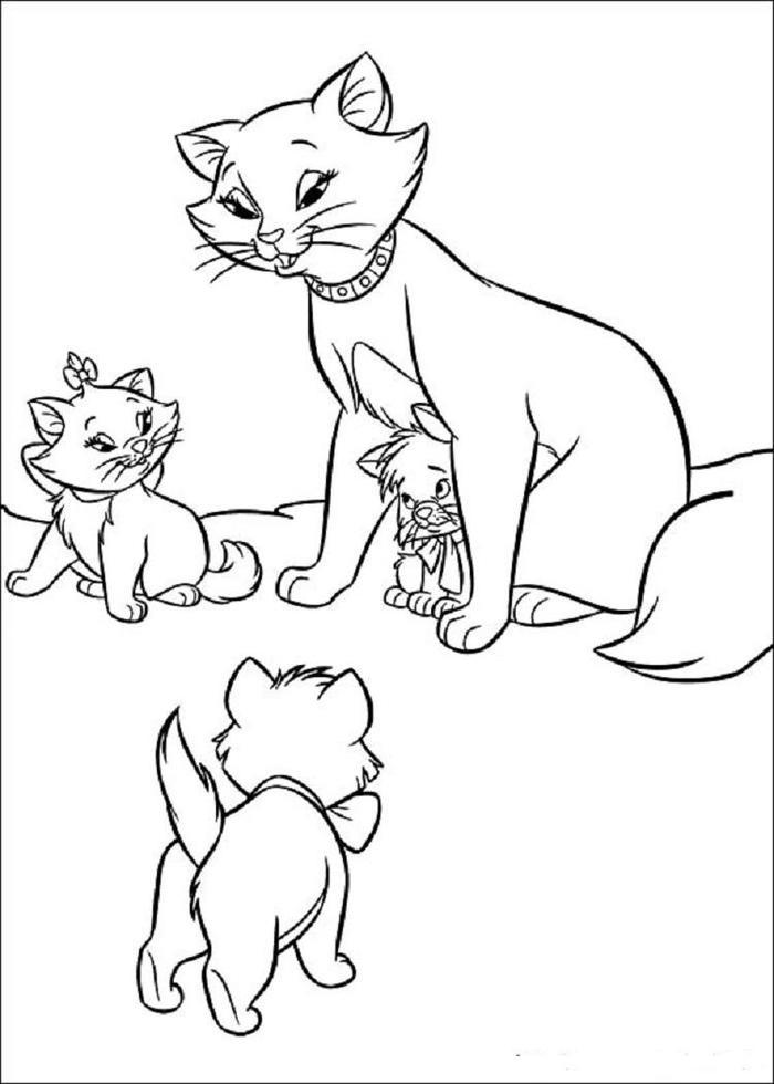 Aristocats Kittens Coloring Pages