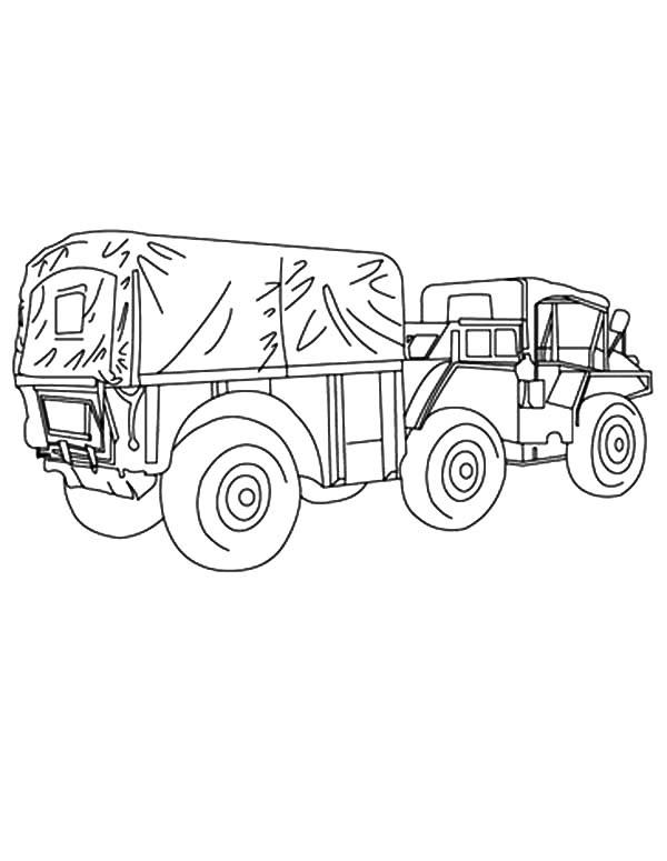 Army Car Coloring Pages For Kids